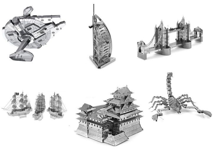 Metall 3D Puzzle verschiedene Modelle