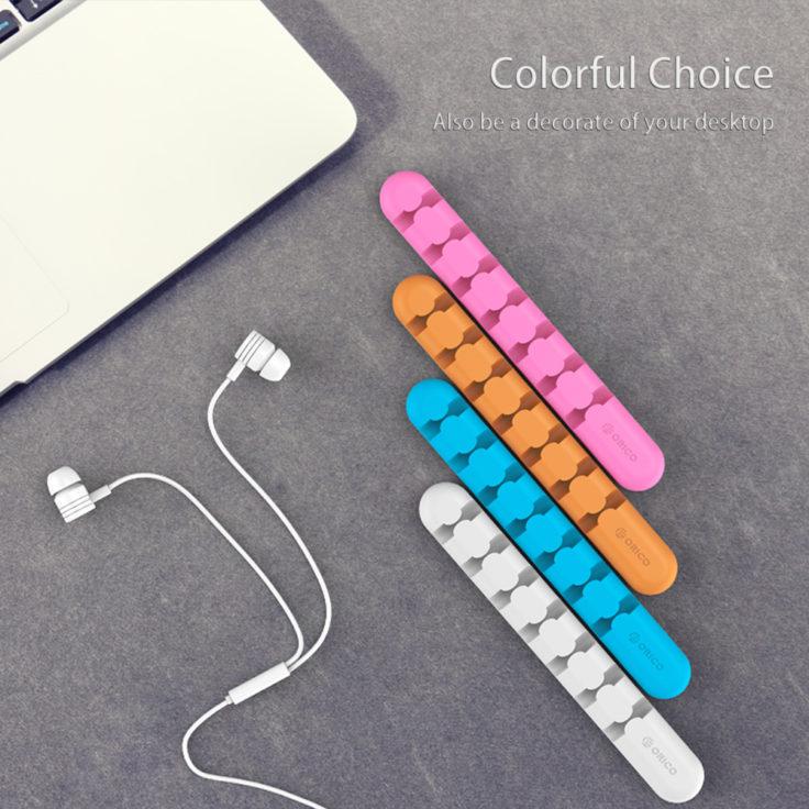 Die selbstklebende Kabelführung verschiedene Farben