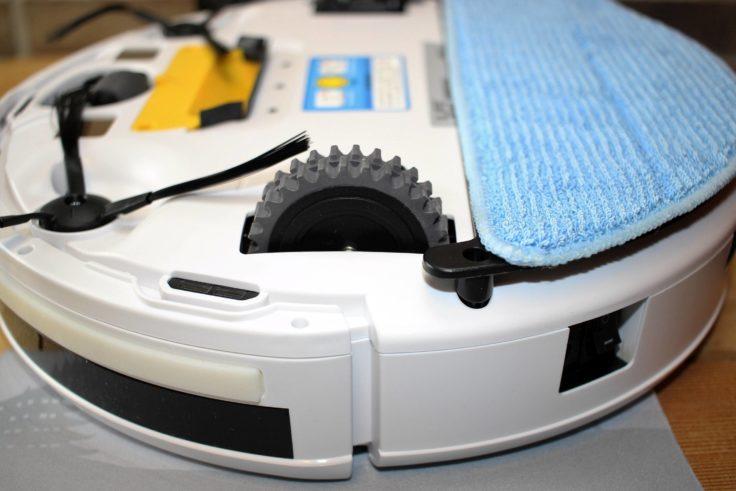 Nahaufnahme der Räder und Microfasertuch
