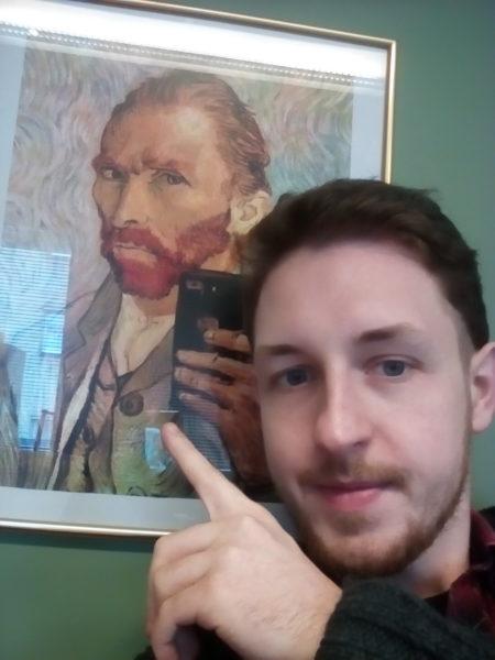 Cubot Note S Selfie mit Van Gogh