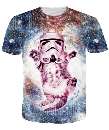 cat stormtrooper shirt groß