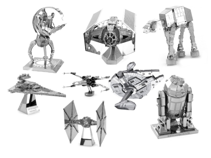 3D Star Wars Metall Puzzle