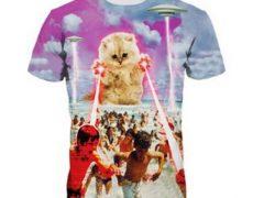 T-Shirt Katze Laser