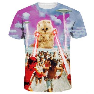 T Shirt Katze Laser a