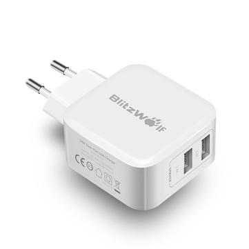 Blitzwolf USB Ladegerät Weiß