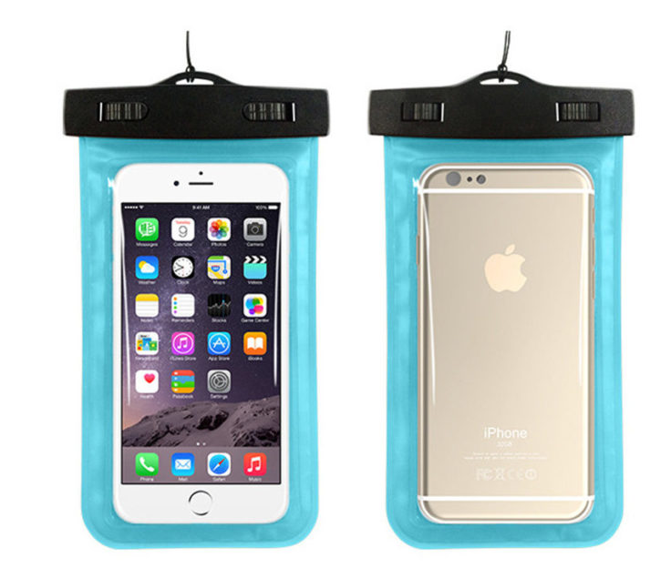 Blaue wasserfeste Smartphonehülle