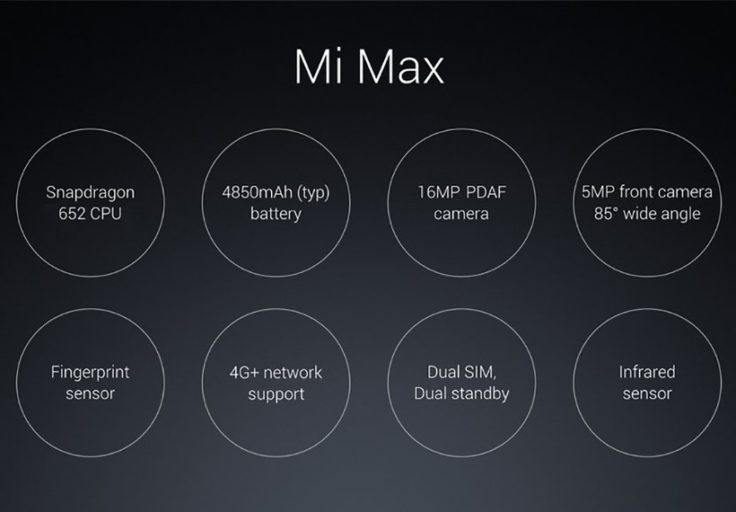 Xiaomi Mi Max Phablet Übersicht