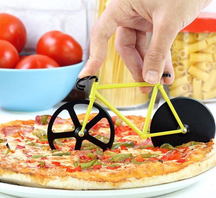 Pizzaschneider in Fahrrad-Form