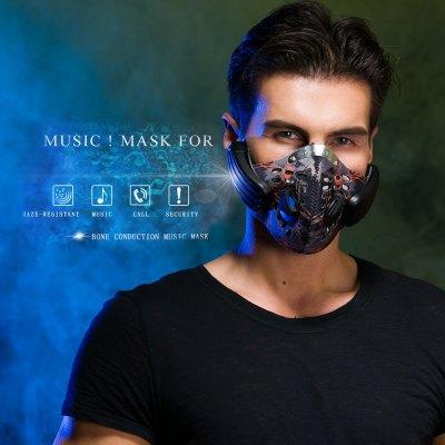 Atemschutz mit eingebautem Headset