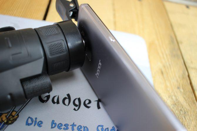 Smartphone Fernglas Objektiv