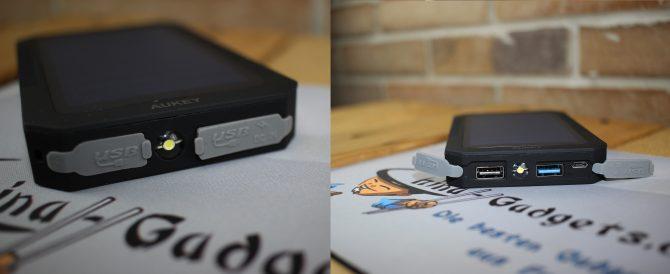 Die USB-Ports sind vor Staub, Sand o.ä. geschützt