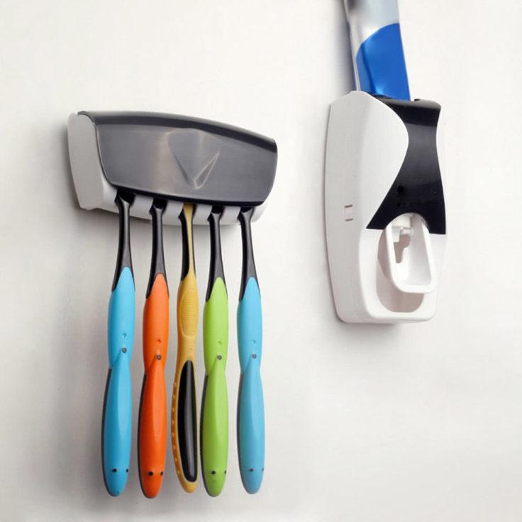 Fur Ordnung Im Badezimmer Zahnpastaspender Halter Set