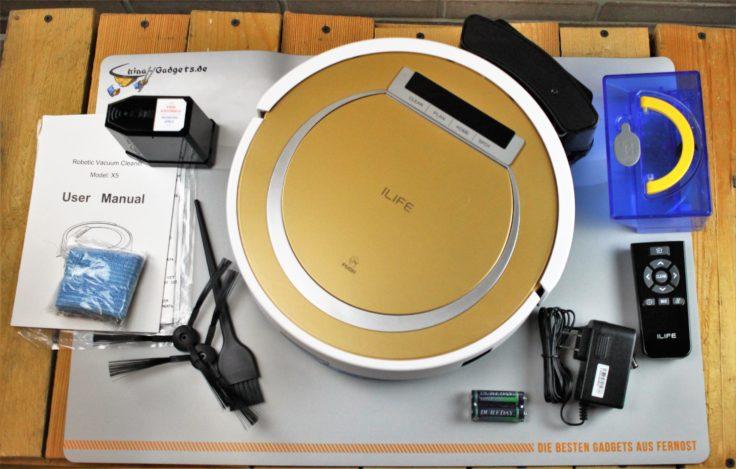 ILIFE X5 Staubsaug-Roboter mit Zubehör