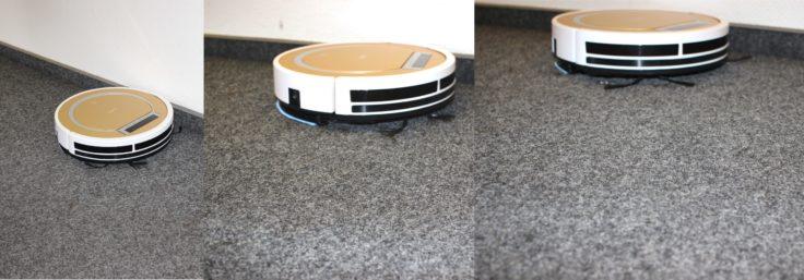 ILIFE X5 Saugroboter im Einsatz auf Teppichboden