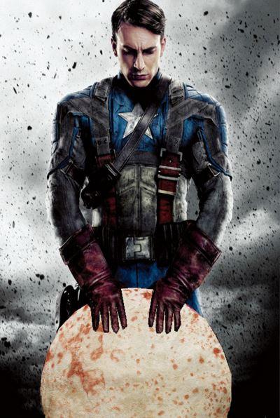 Pfannkuchen Captain America