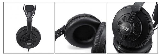 Superlux HD668B Stereo-Kopfhörer Design