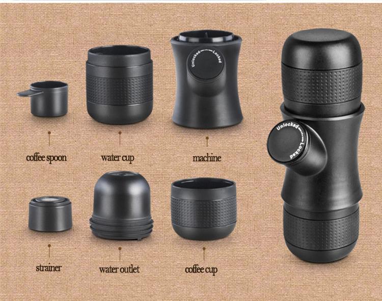 Espresso im Wald trinken? Honana Kaffeemaschine für Unterwegs