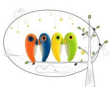 Keramikmesser Vogel