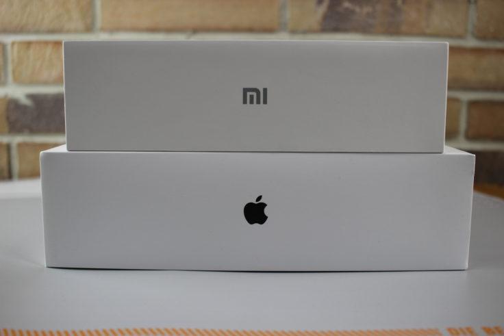 """Xiaomi Mi Air Verpackung: """"Mi"""" statt Apfel. Schaut aber gut aus!"""