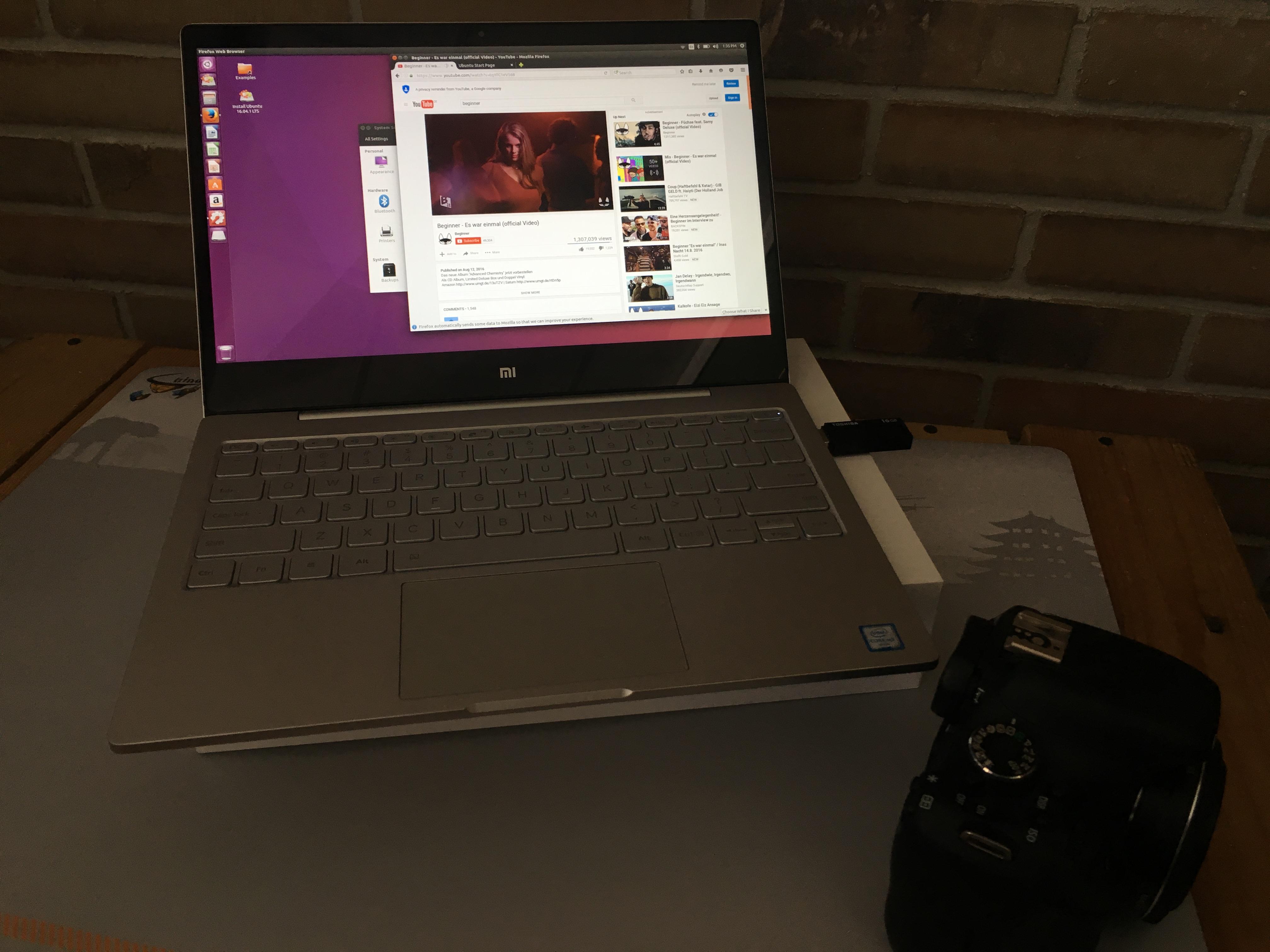 Ubuntu auf dem Xiaomi Air läuft