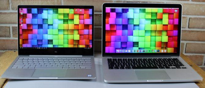 MacBook Pro vs. Xiaomi Air: das Retina Display ist bisschen kräftiger