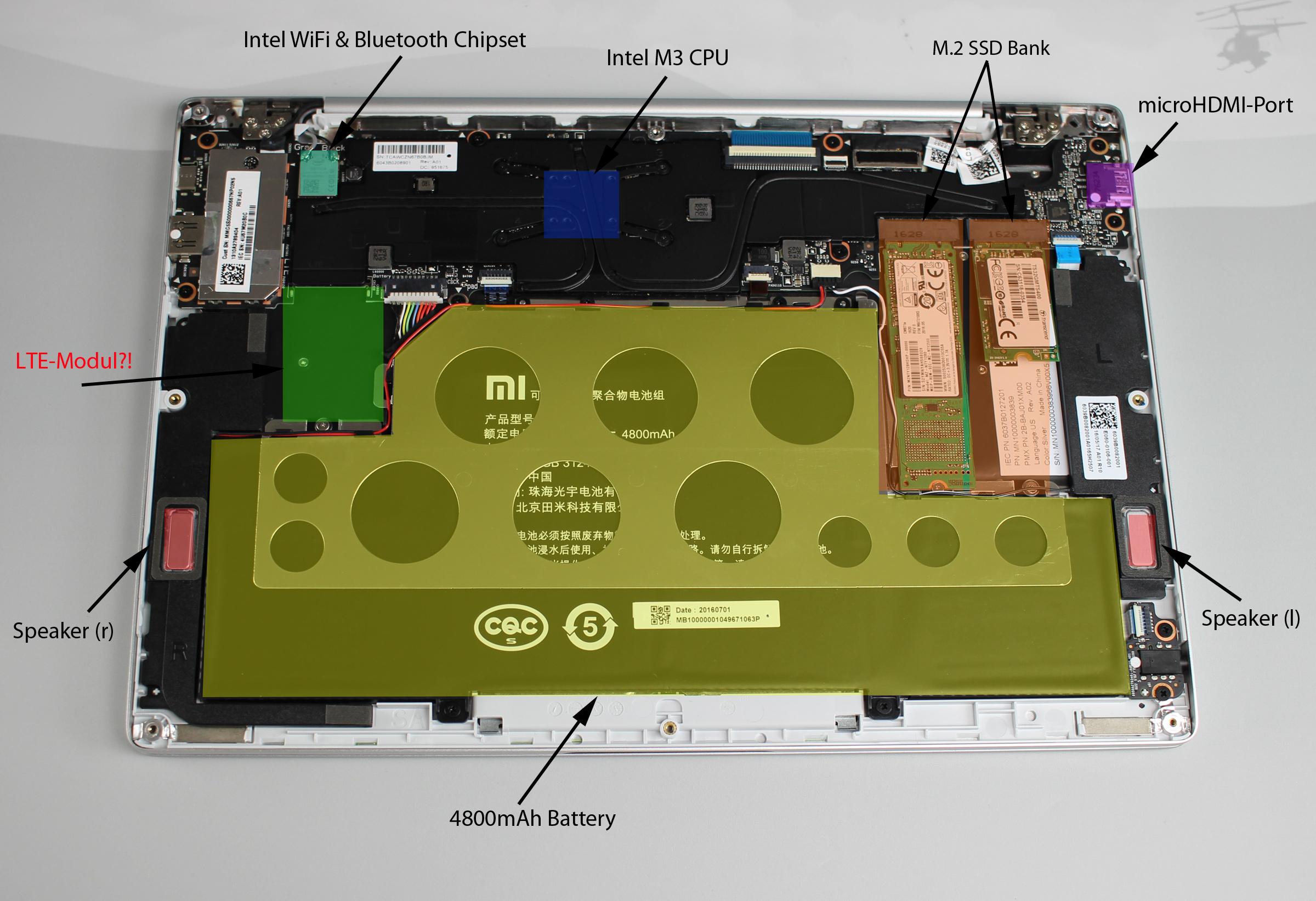 Hardware des Mi Airs im Detail