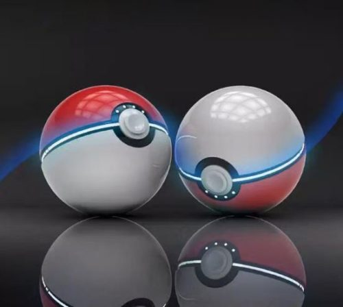 Powerbank im Pokéball-Design