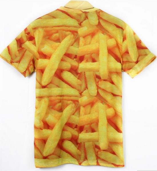 T-Shirt im Pommes-Design Rückseite