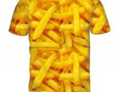 T-Shirt im Pommes-Design