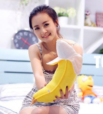Banane Plüschkissen