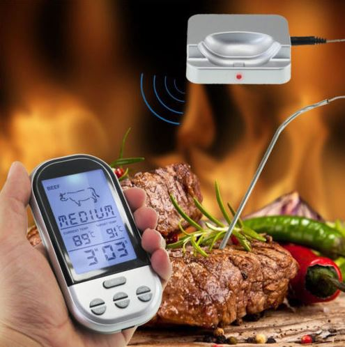 kabelloses bbq thermometer steak perfekt durch f r 10 42. Black Bedroom Furniture Sets. Home Design Ideas