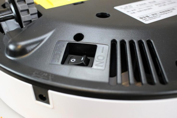 ILIFE V7S Saugroboter Powerbutton