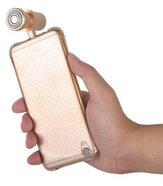 Elektrischer Rasierer Smartphone Farben