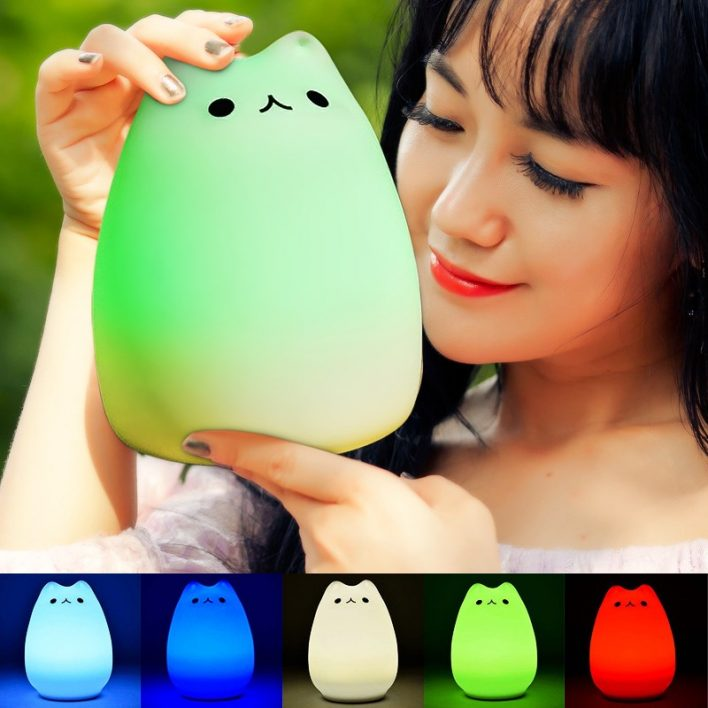 LED Katze Lampe