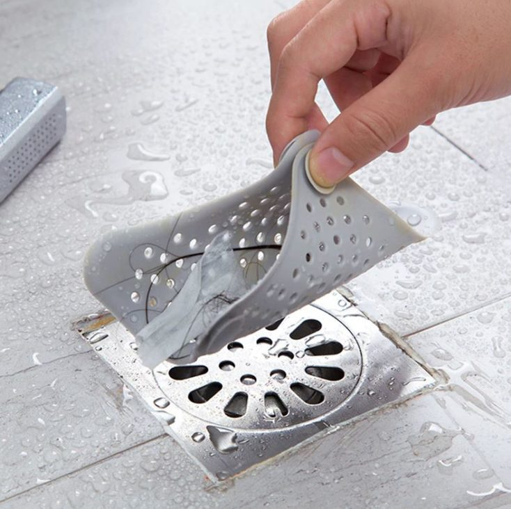 Silikon Abflusssieb benutzt Bad
