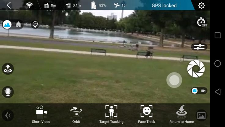 Zerotech DOBBY 4K Selfie Drohne App Kameravorschau
