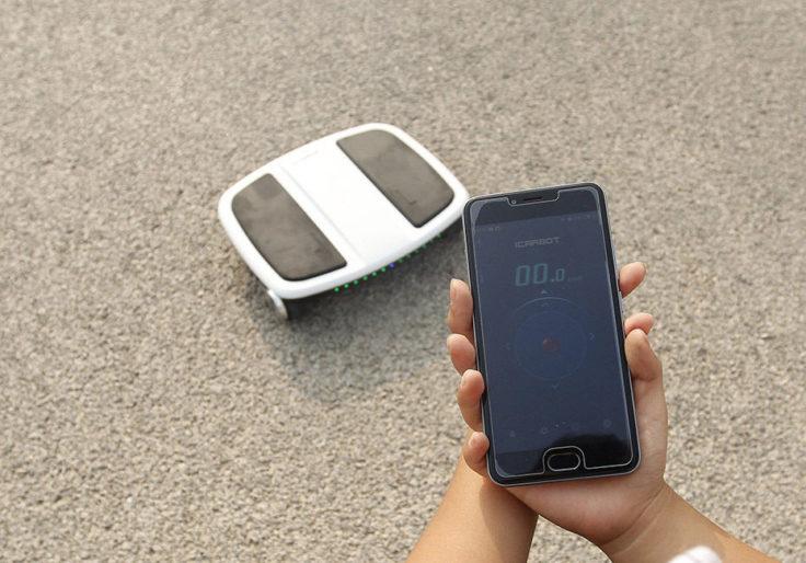 iCarbot Robo-Skateboard durch App gesteuert