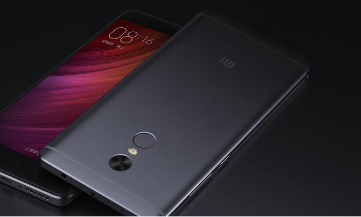 Fronseite und Rückseite des Xiaomi Redmi Note 4