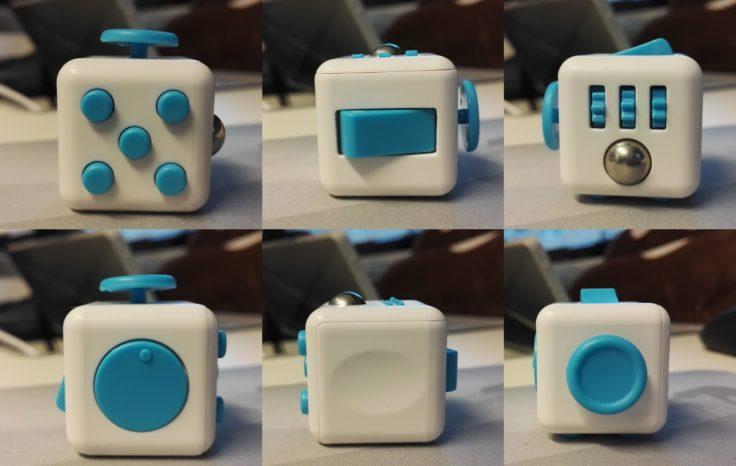 Fidget Cube verschiedene Seiten
