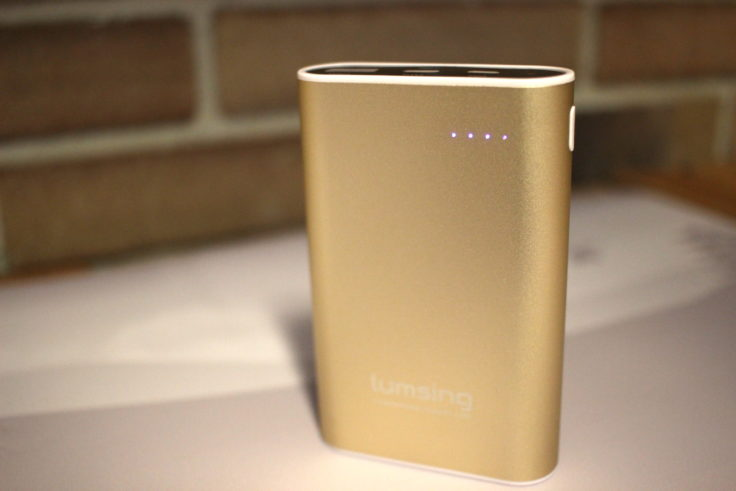 Lumsing Powerbank Grand A2 Fit ist aus Metall in der Farbe Gold