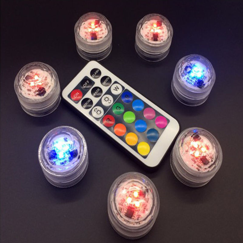 Wasserdichte LED-Leuchten mit Farbwechsel-Fernbedienung 💡