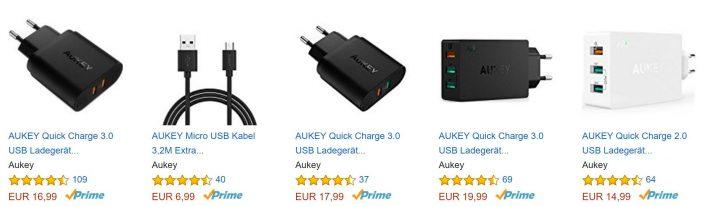 Aukey verkauft auf Amazon - mit Primeversand