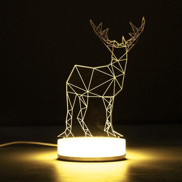 3D LED Lampe Hirsch