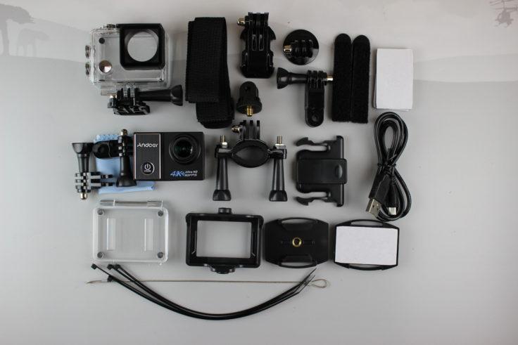 andoer-c5-pro-actioncam-Lieferumfang