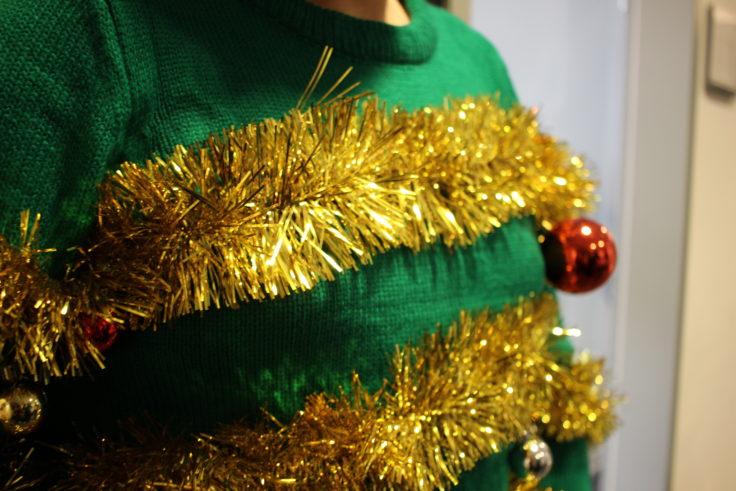 Weihnachtspullover Detail