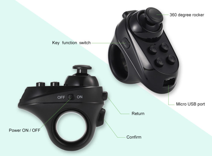 Bluetooth-Ring Controller Tasten