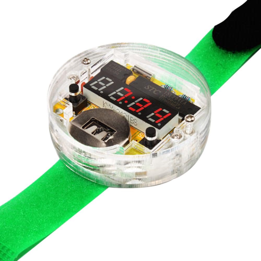 elektronische diy armbanduhr zum selber zusammenbauen f r. Black Bedroom Furniture Sets. Home Design Ideas