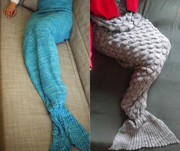 Meerjungfrau Decke Blau Grau