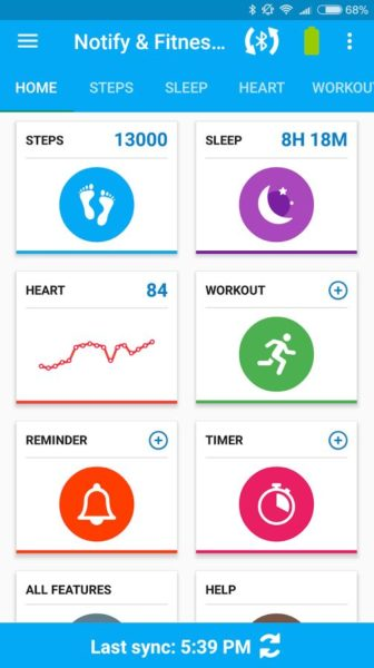 Xiaomi Mi Band 2 Fitnesstracker App2