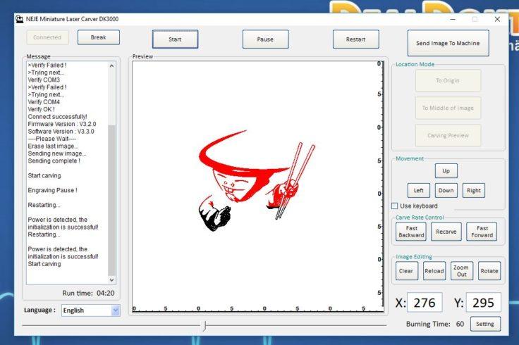 NEJE Laser Carver Software